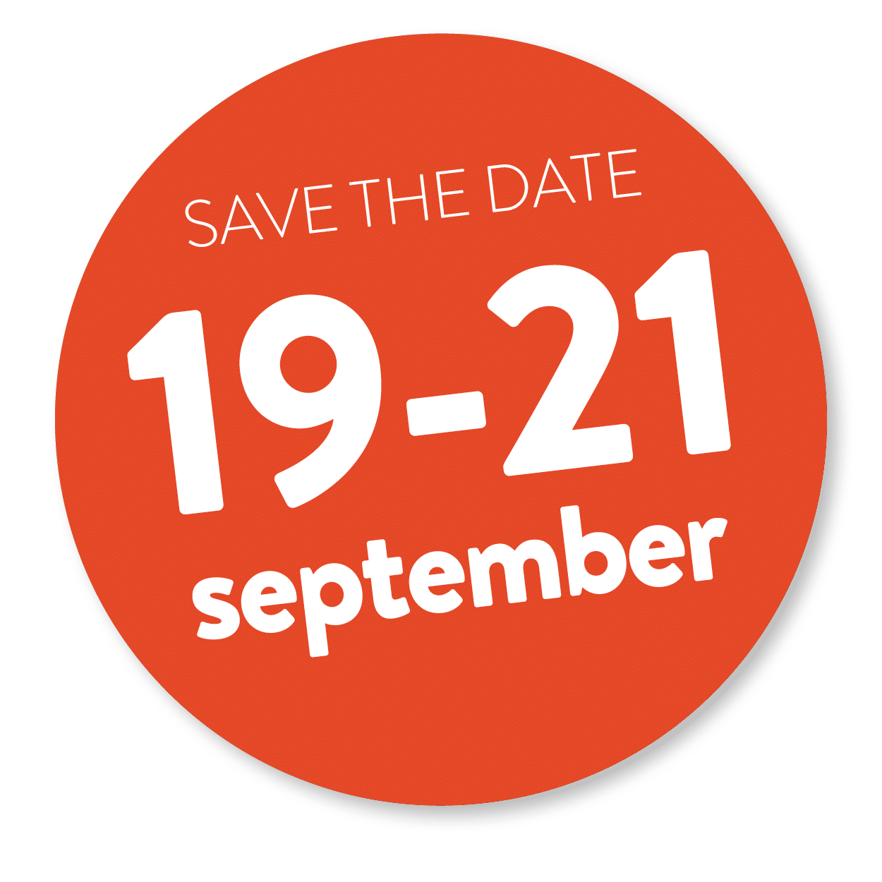 save the date 19 - 21 sep