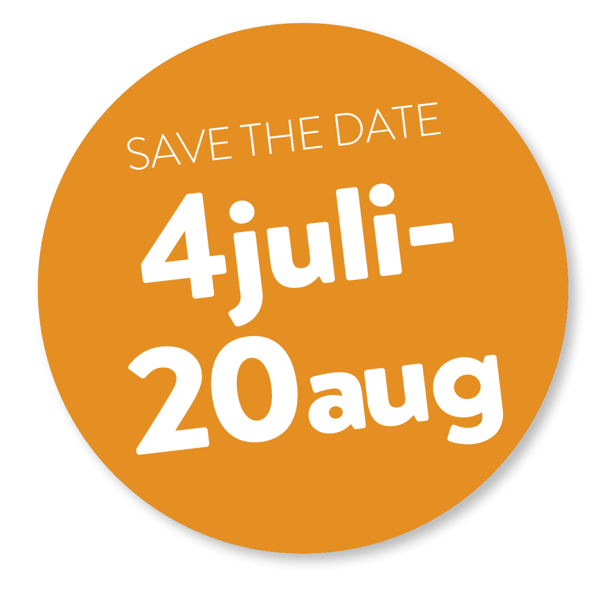 save the date 4 juli 20 aug