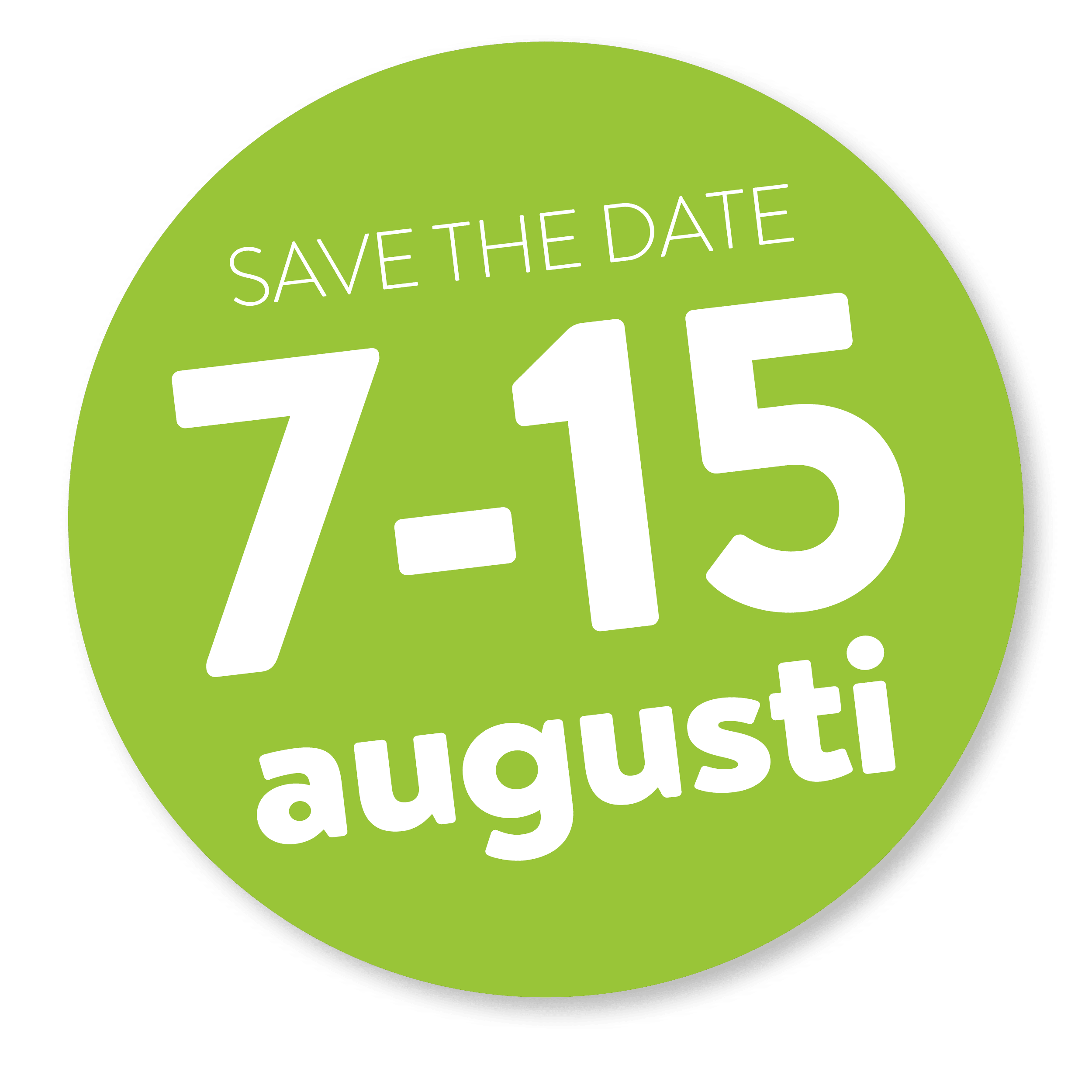 save the date 7-15 aug