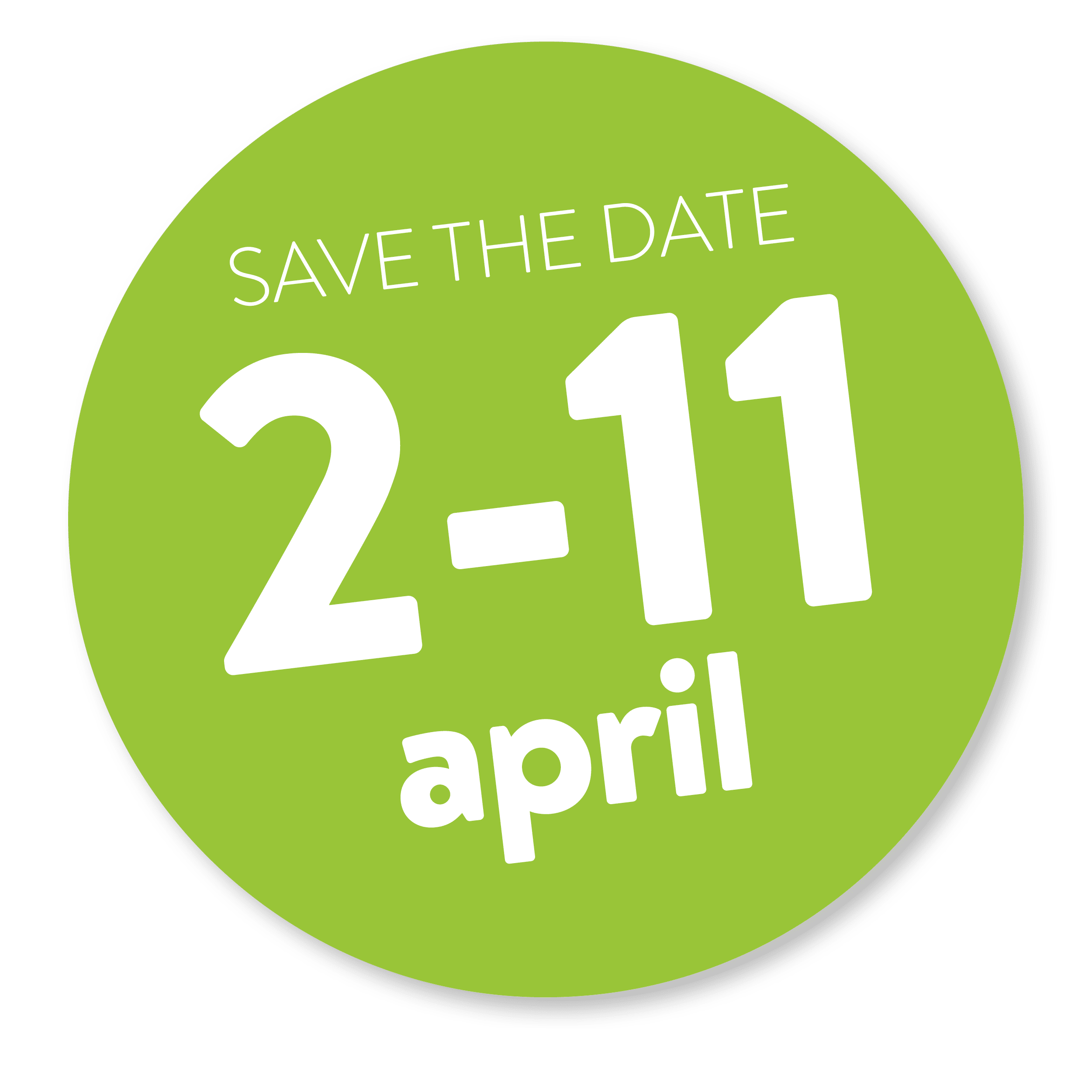 save the date 2-11 april