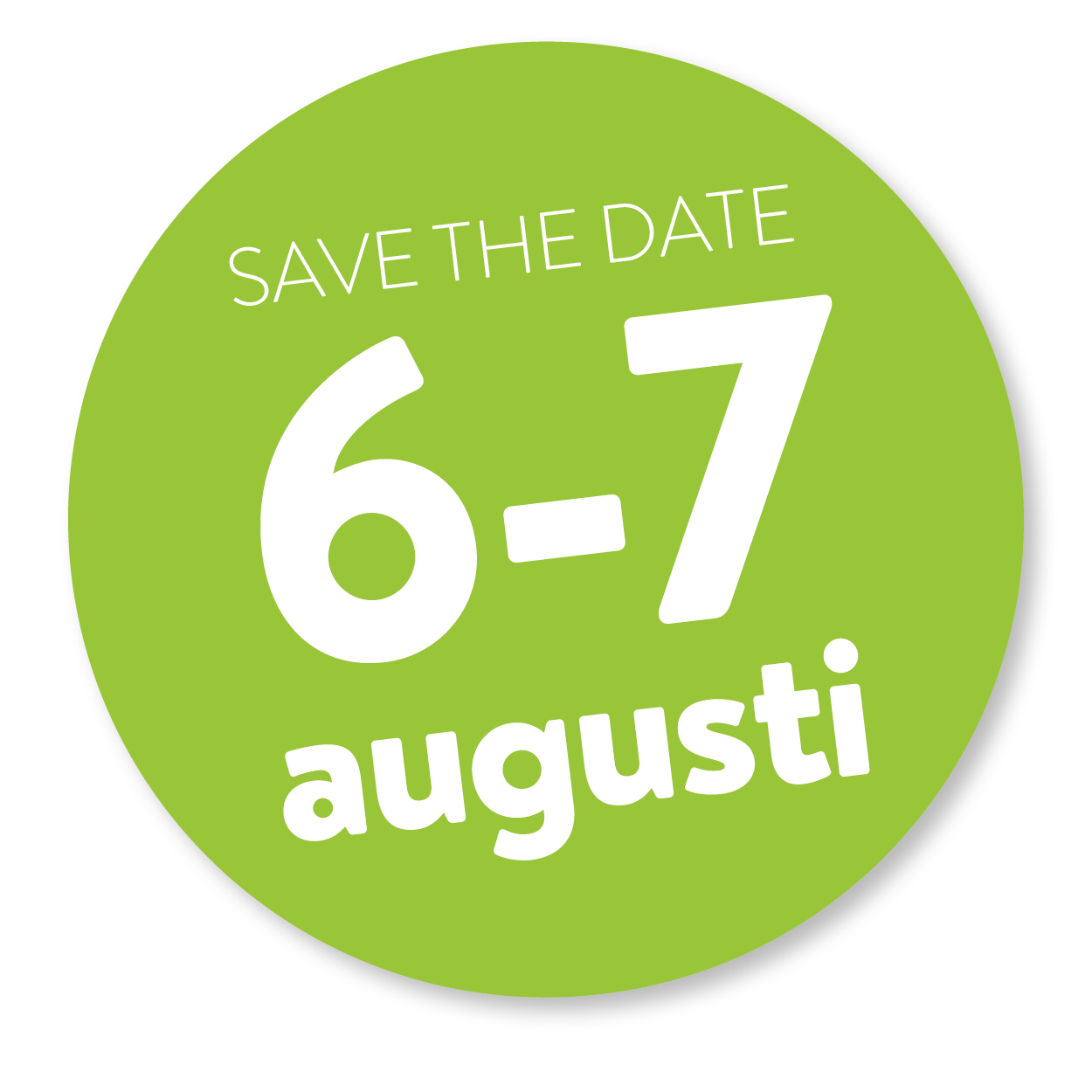 save the date 6-7 augu