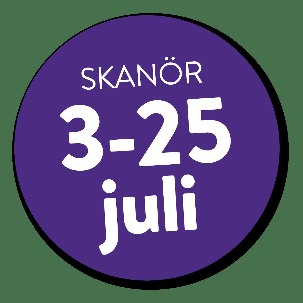 skanör 3-25 juli