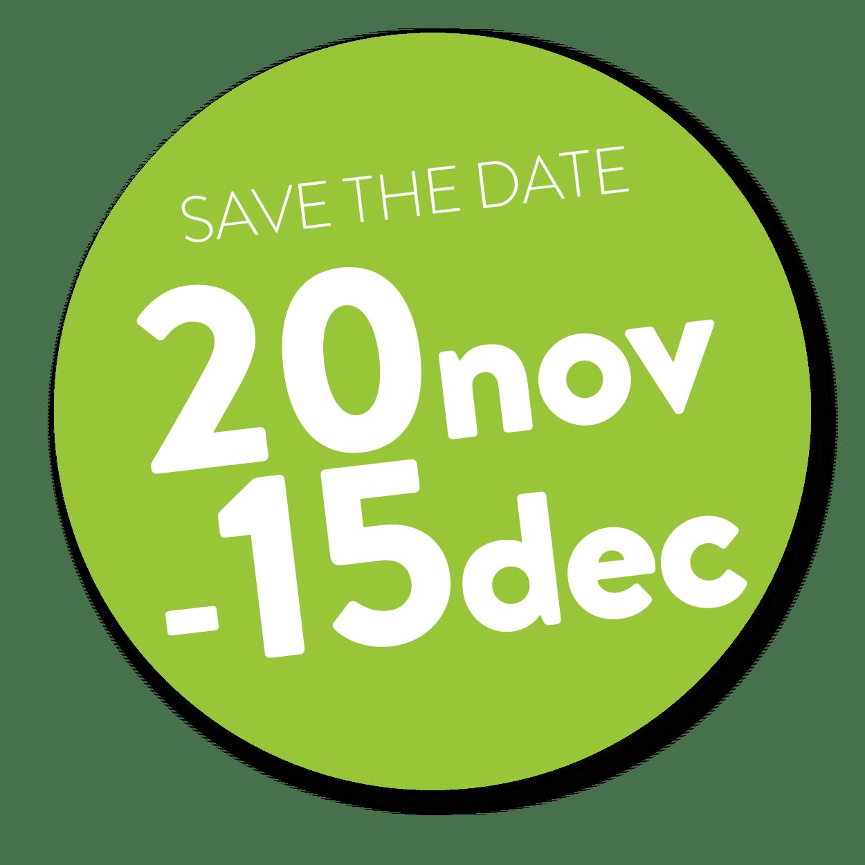 save the date 20nov-15 dec